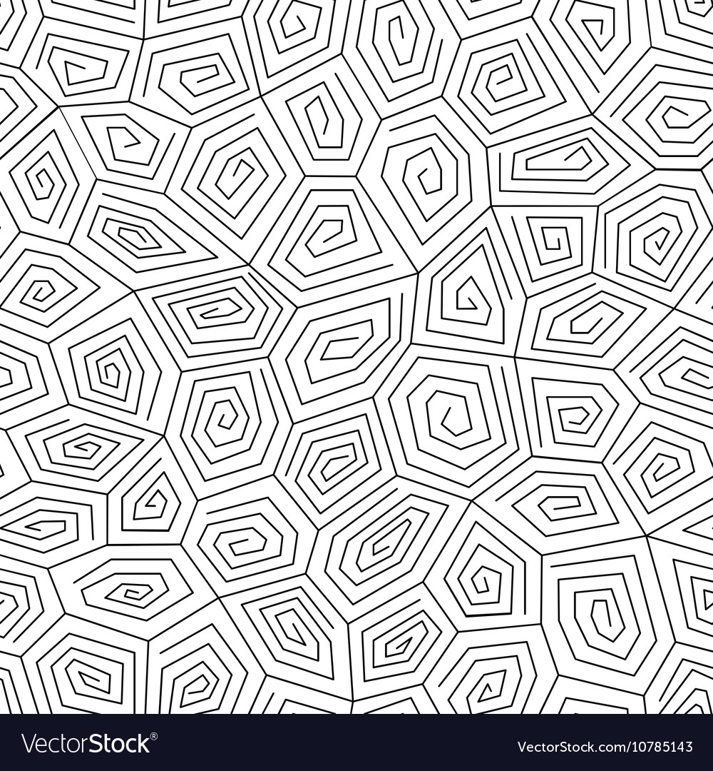 Geometric spiral pattern vector