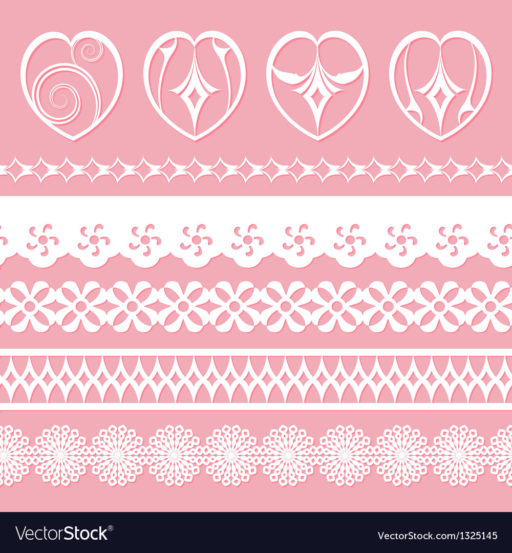 Laces and hearts vector