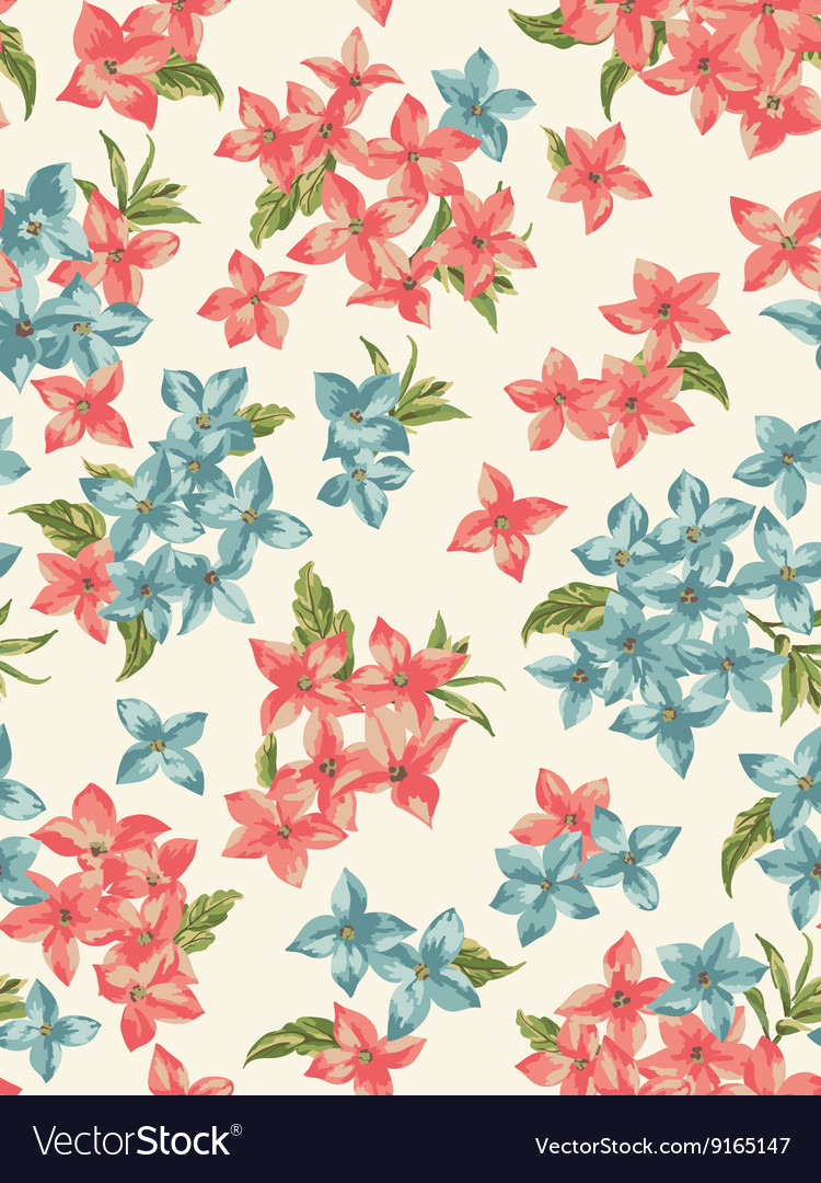 Seamless pattern with small flowers vector