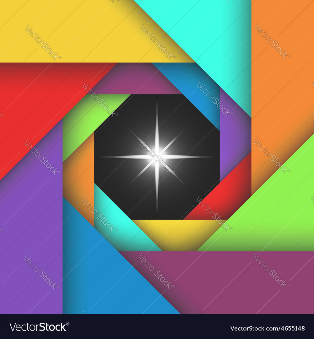 Colorful camera abstract aperture photo template vector