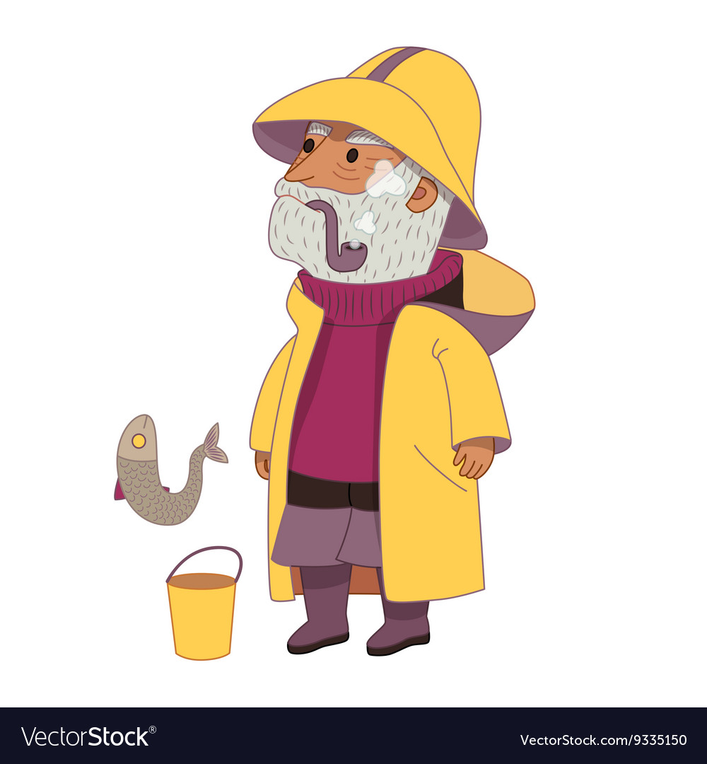 Fisherman dodo people collection vector