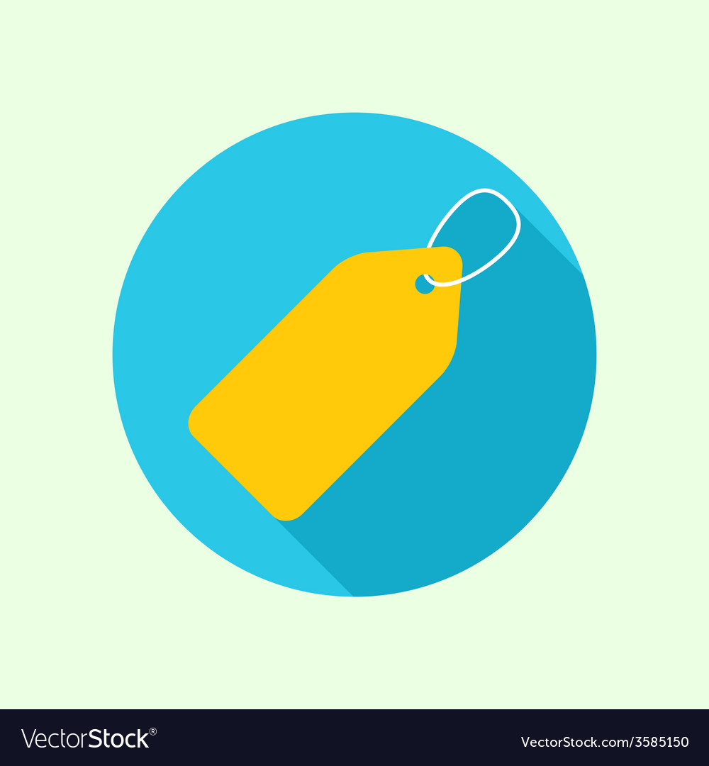 Tag and label icon vector