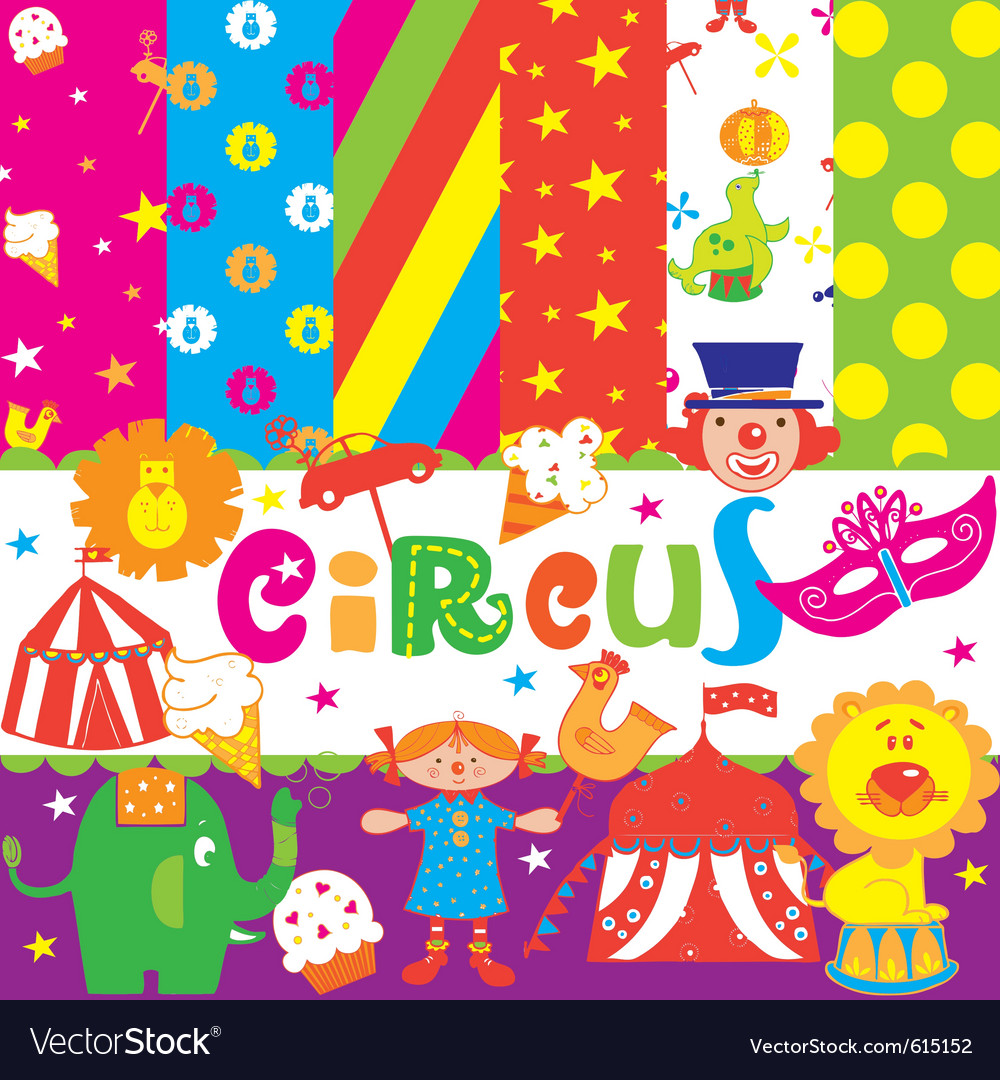 Circus wallpaper print vector