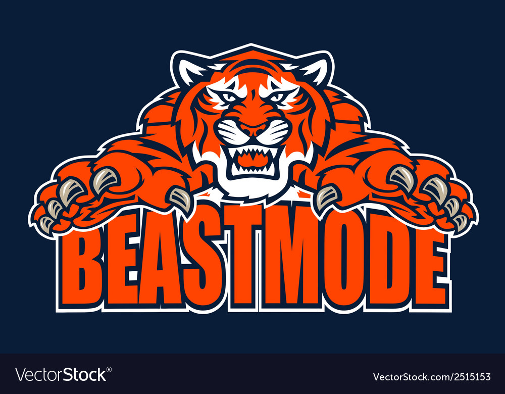 Beastmode tiger vector