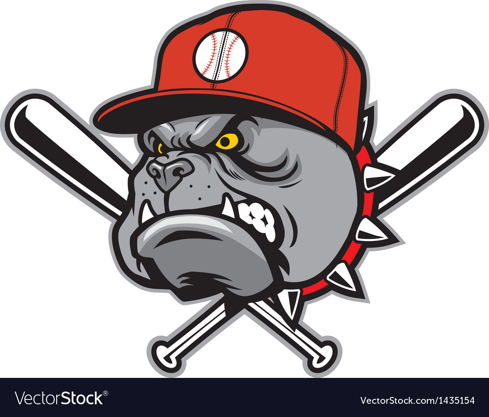 Bulldog as a baseball mascot vector