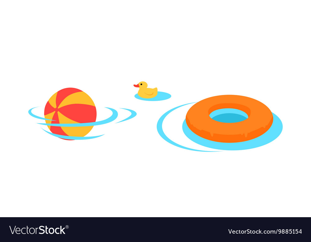 Inflatable toys for swimming in the pool vector