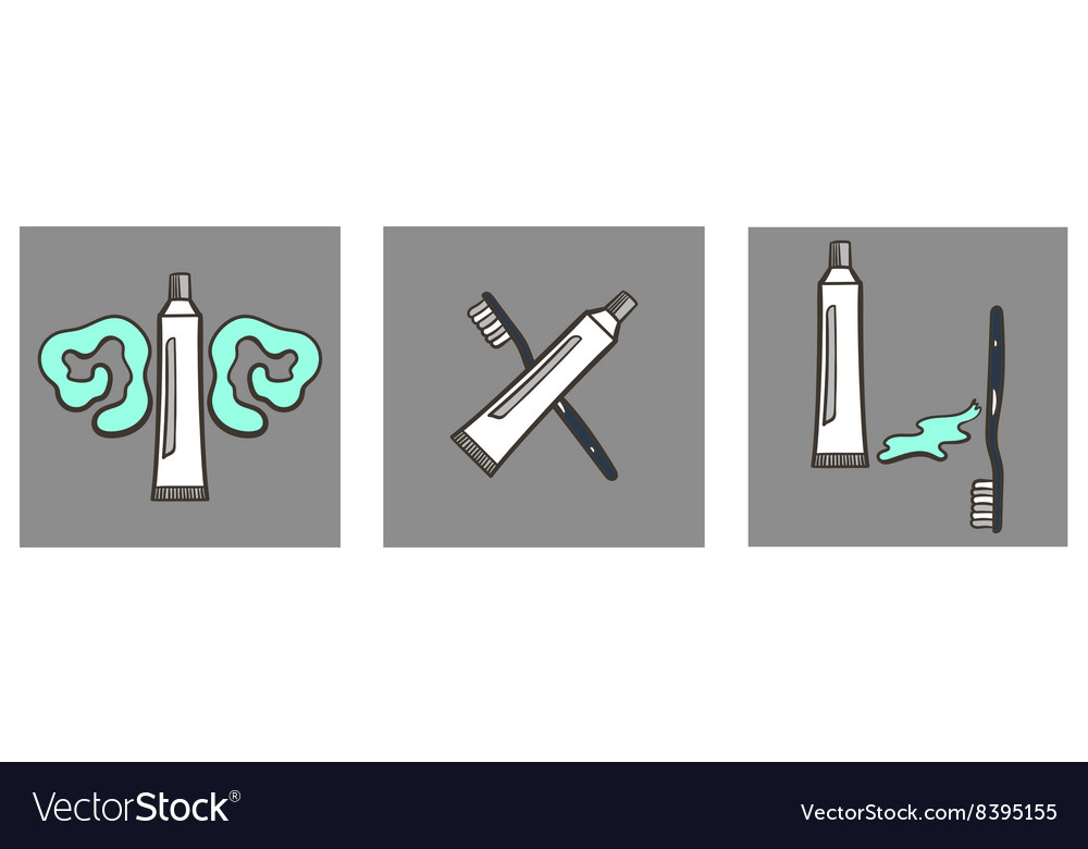 Decoartive font toothpaste part 8 vector