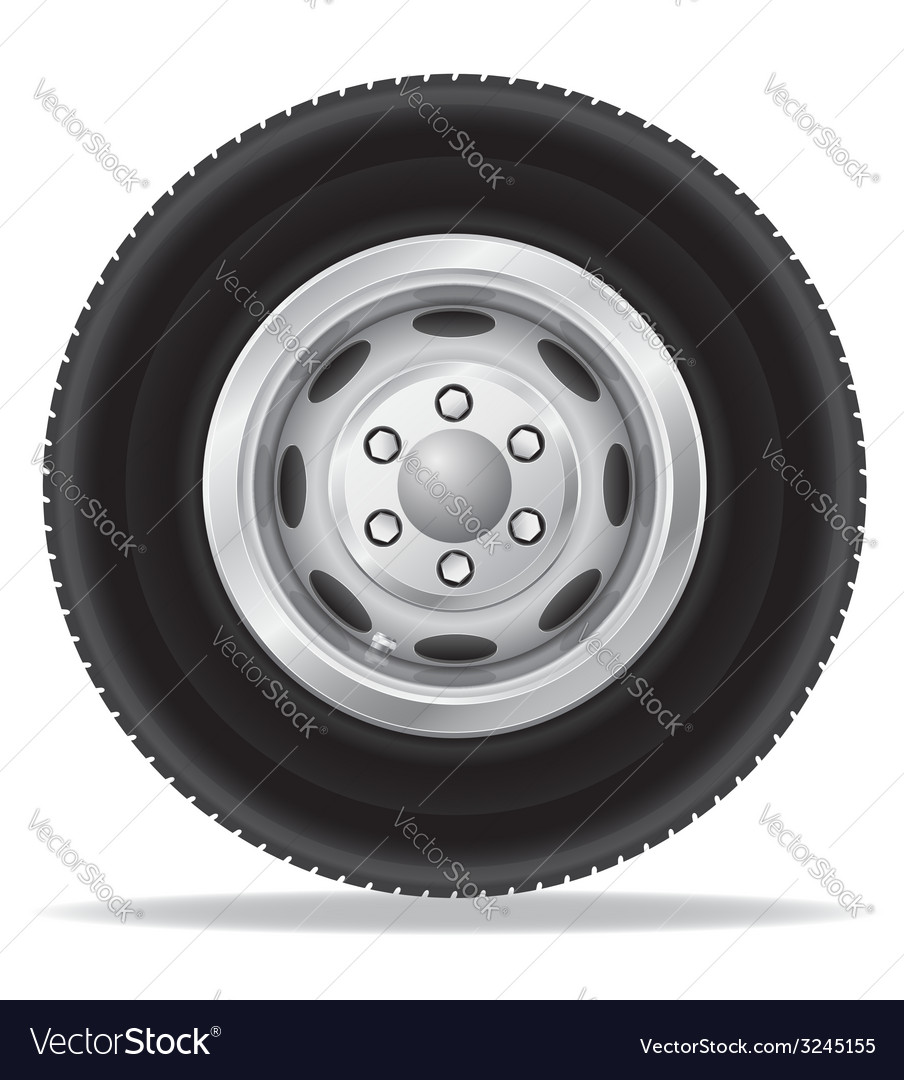 Wheel for truck vector
