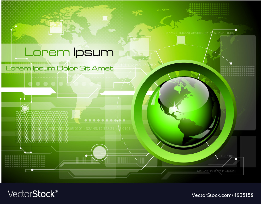Futuristic technology abstract background vector