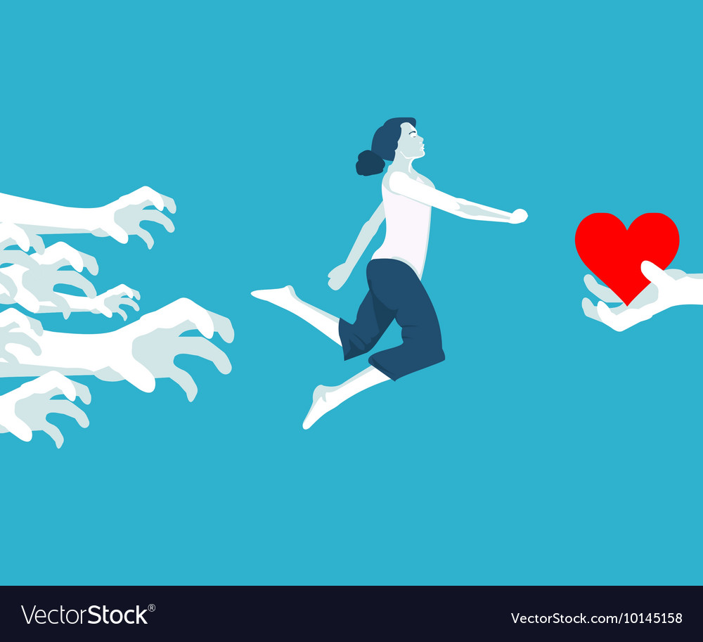 Girl and first love vector