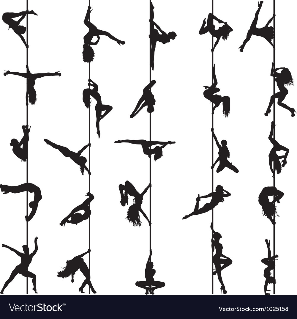 Pole dancers vector