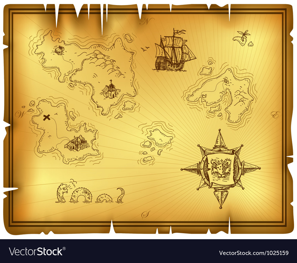 Ancient map vector