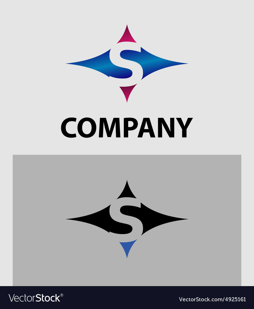 Abstract icons based on the letter s logo vector