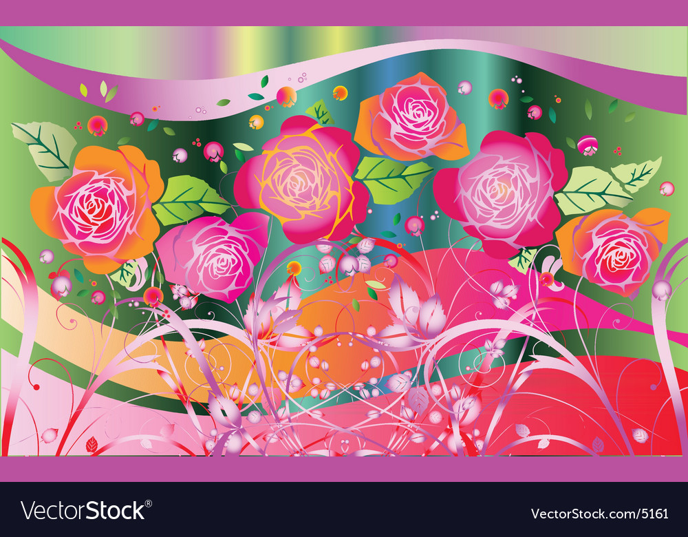 Rose fantasia vector