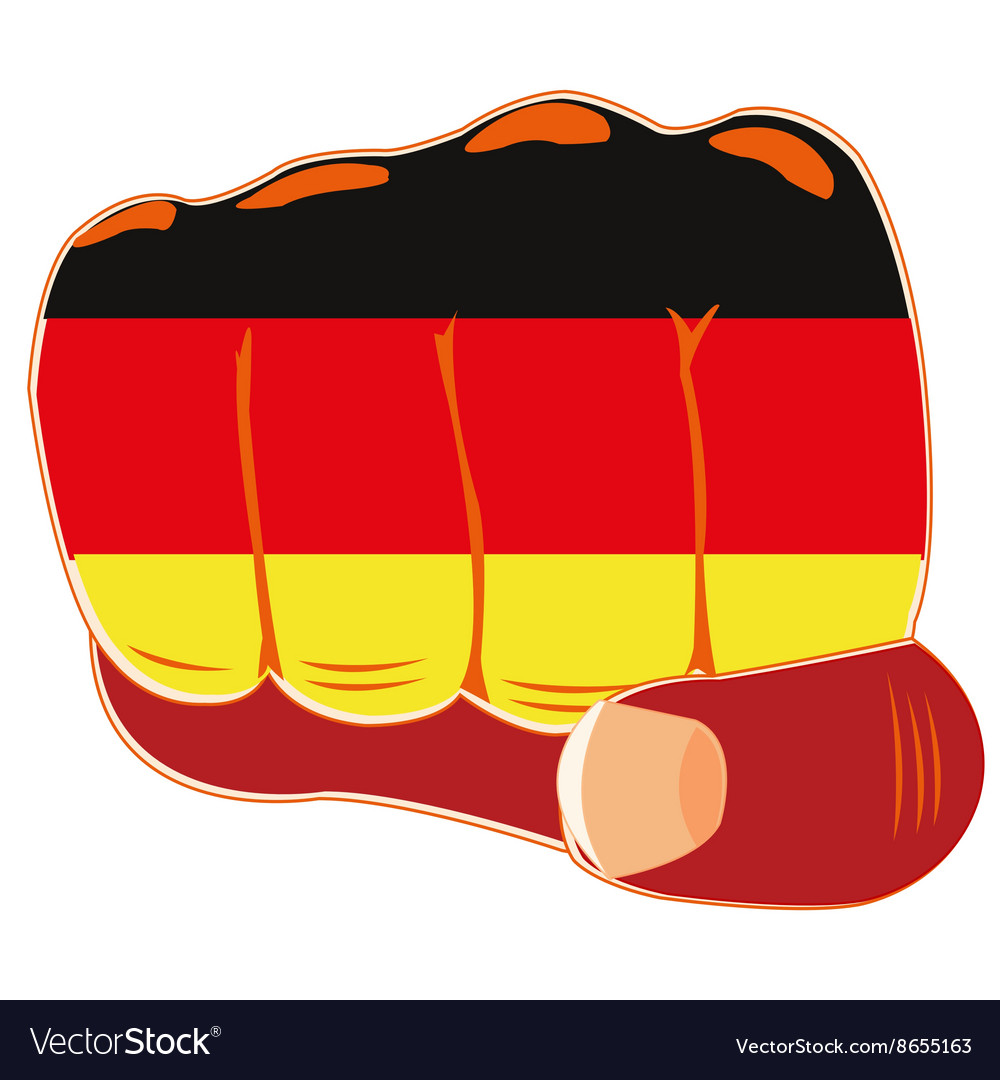Flag of the germany on fist vector