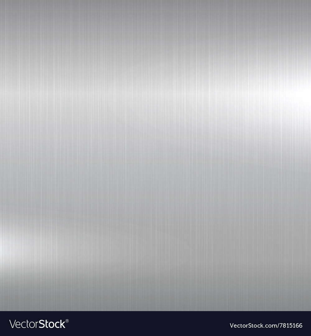 Metal background polished chrome surface vector