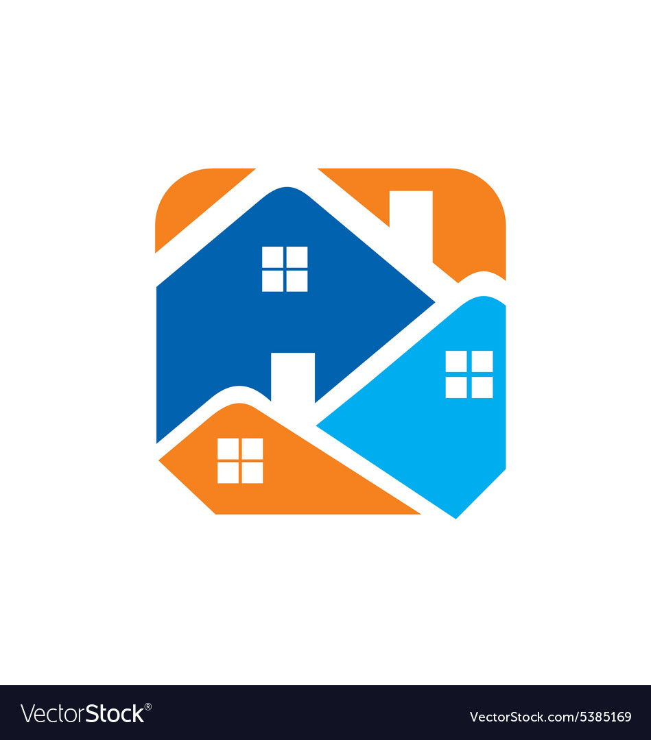 Houses realty property logo vector