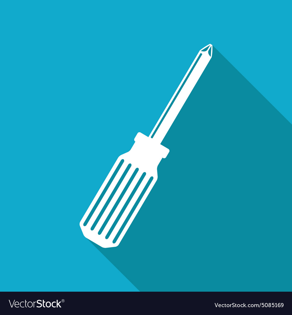 Phillips screwdriver icon eps10 vector