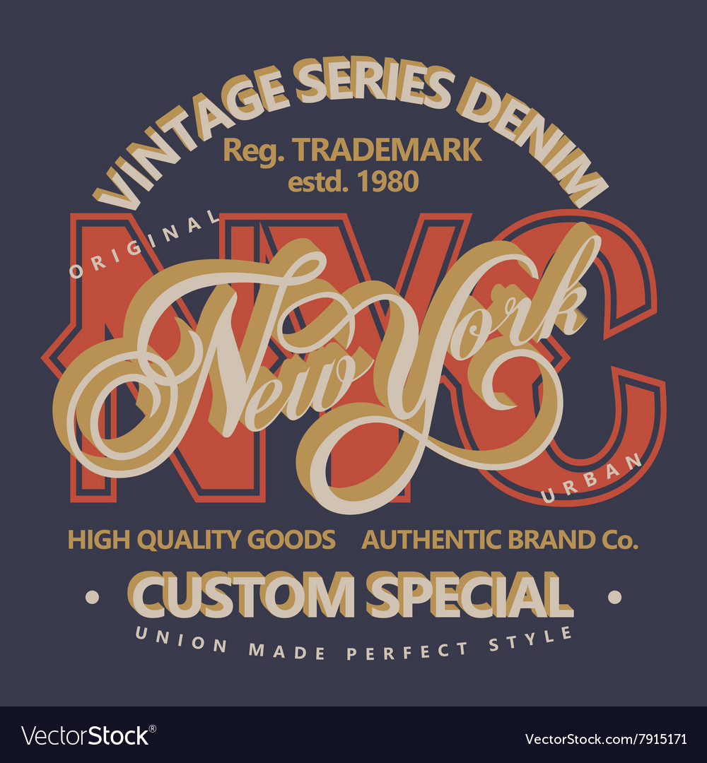 Denim typography tshirt graphics vector