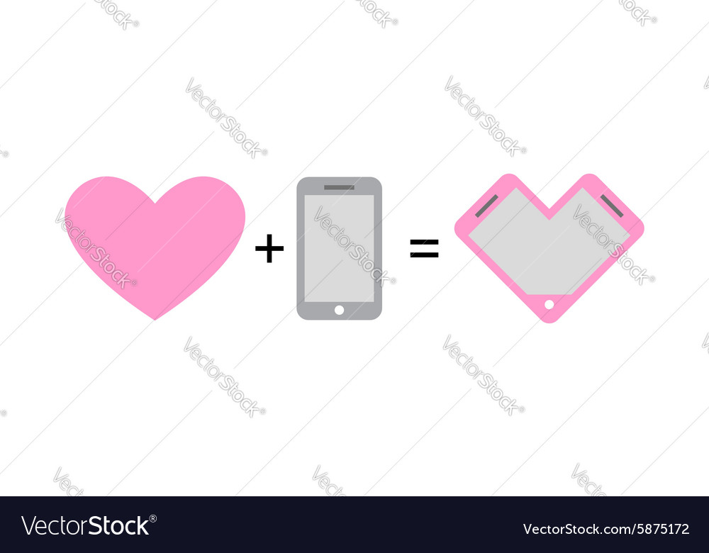 Love and phone fantastic concept phone design for vector