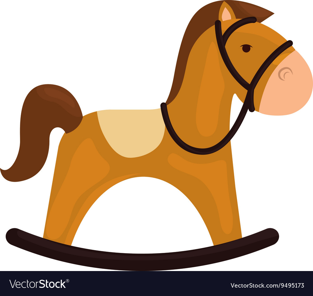 Horse icon toy design graphic vector