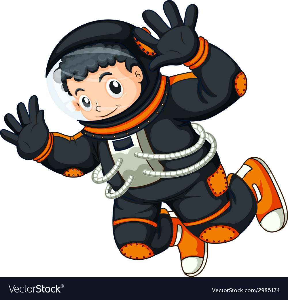 An astronaut floating vector