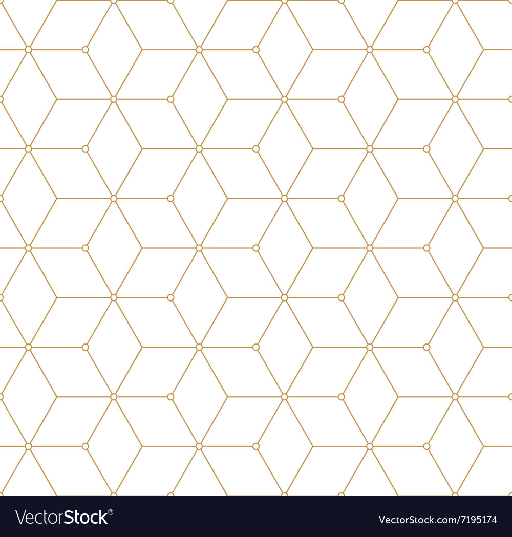 Retro pattern with golden squares vector