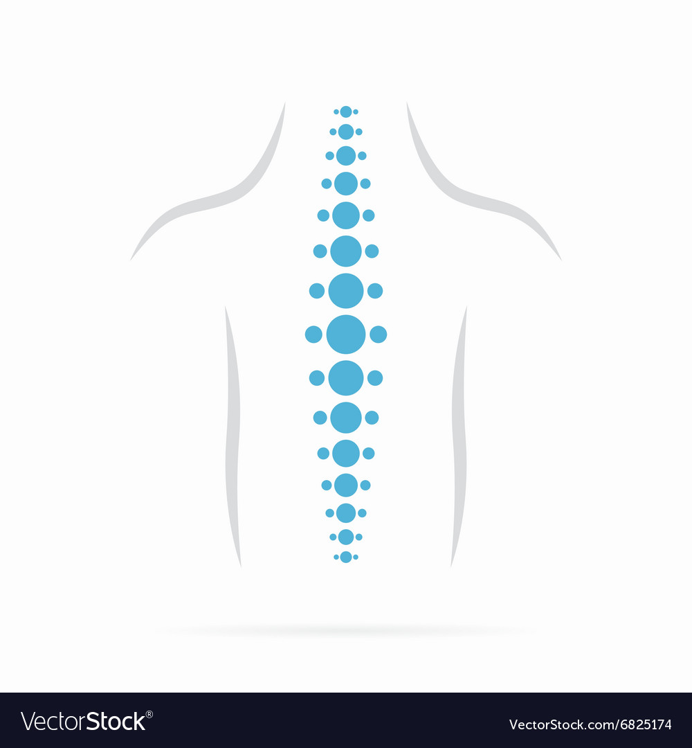 Spine diagnostics symbol design vector