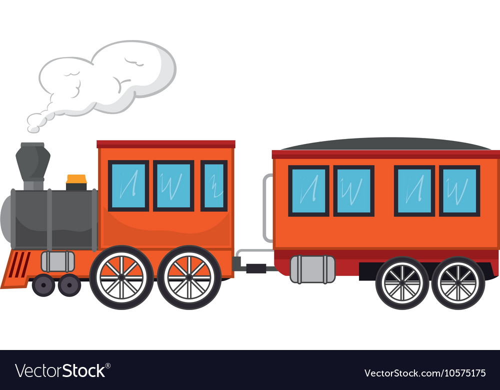 Train rail transport vehicle vector