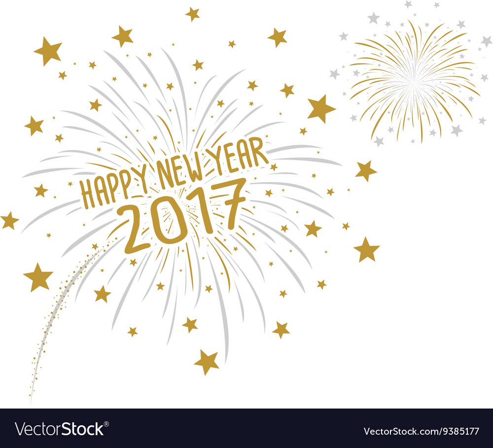 Firework with happy new year 2017 vector