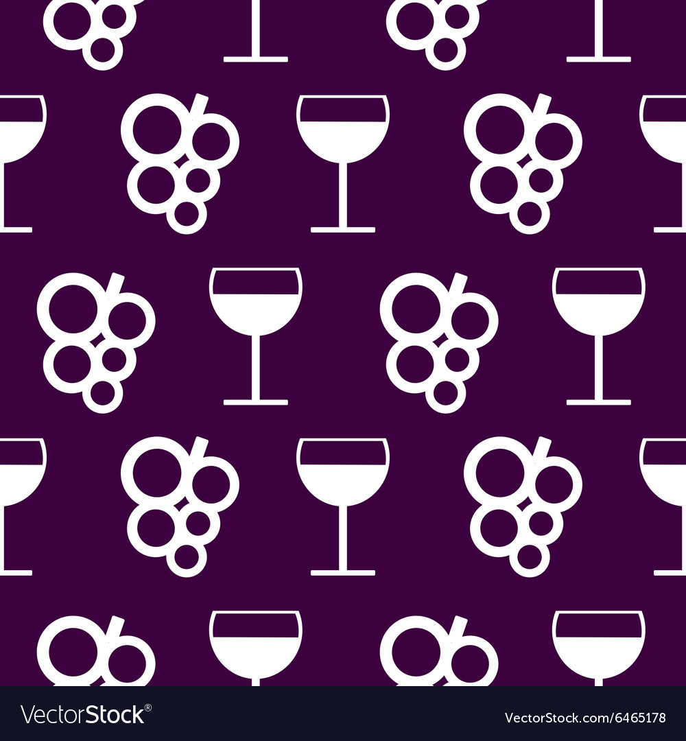 Background with elements of grapes and wineglasses vector