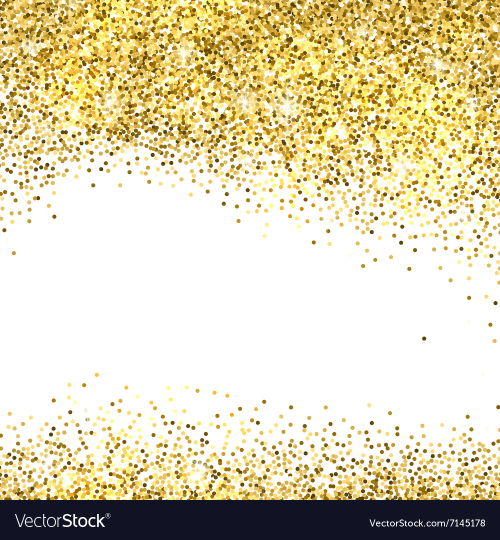 Gold glitter background vector