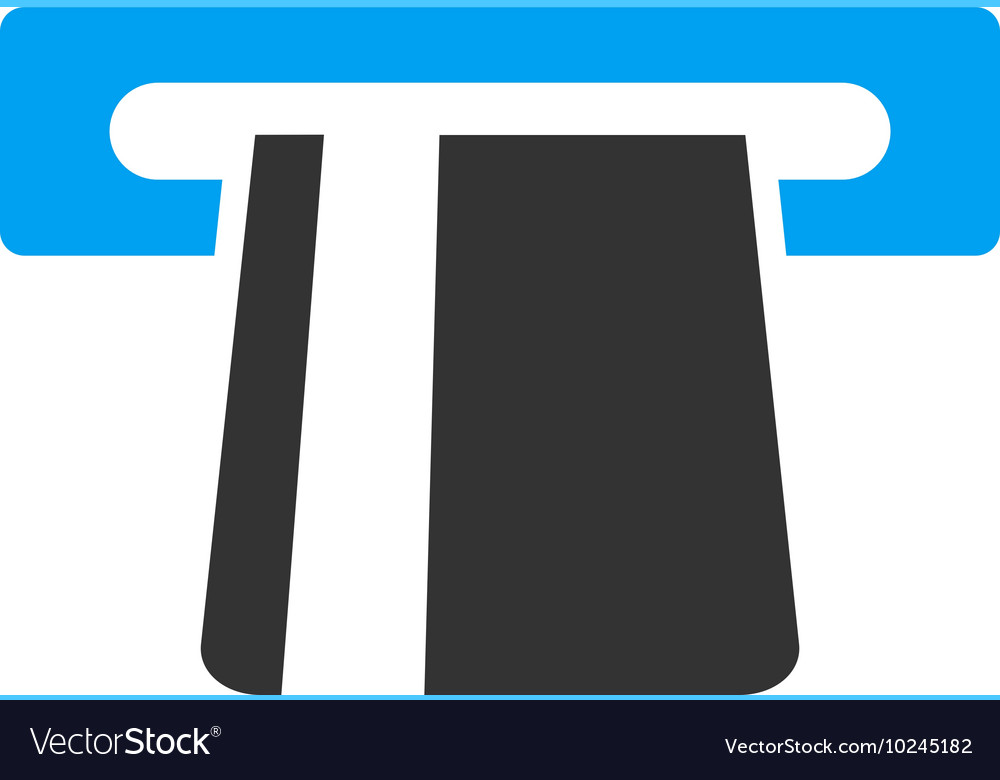 Bank card terminal flat icon vector