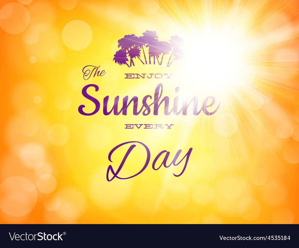 Summer background with sun burst eps 10 vector