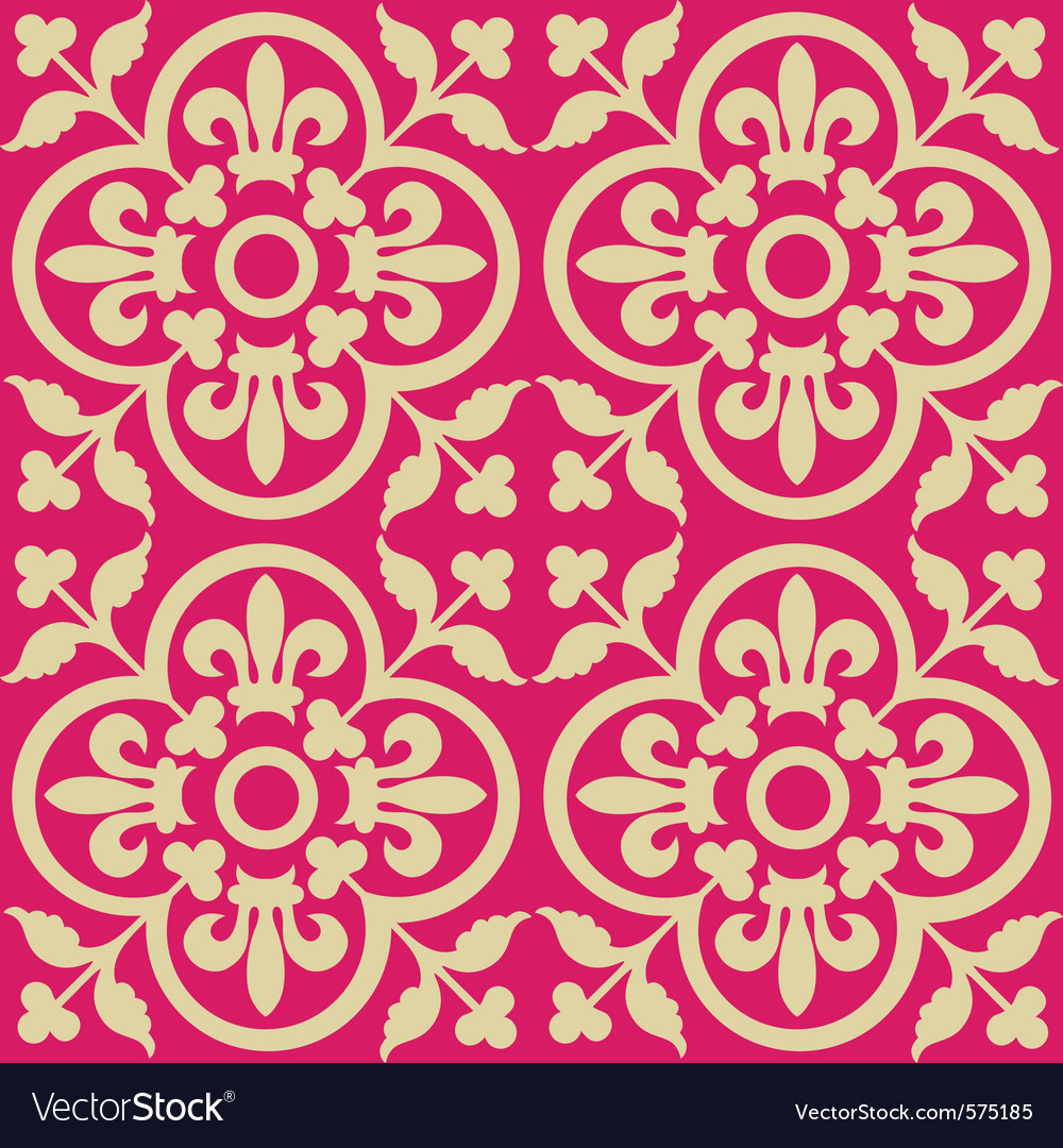 Red royal pattern vector