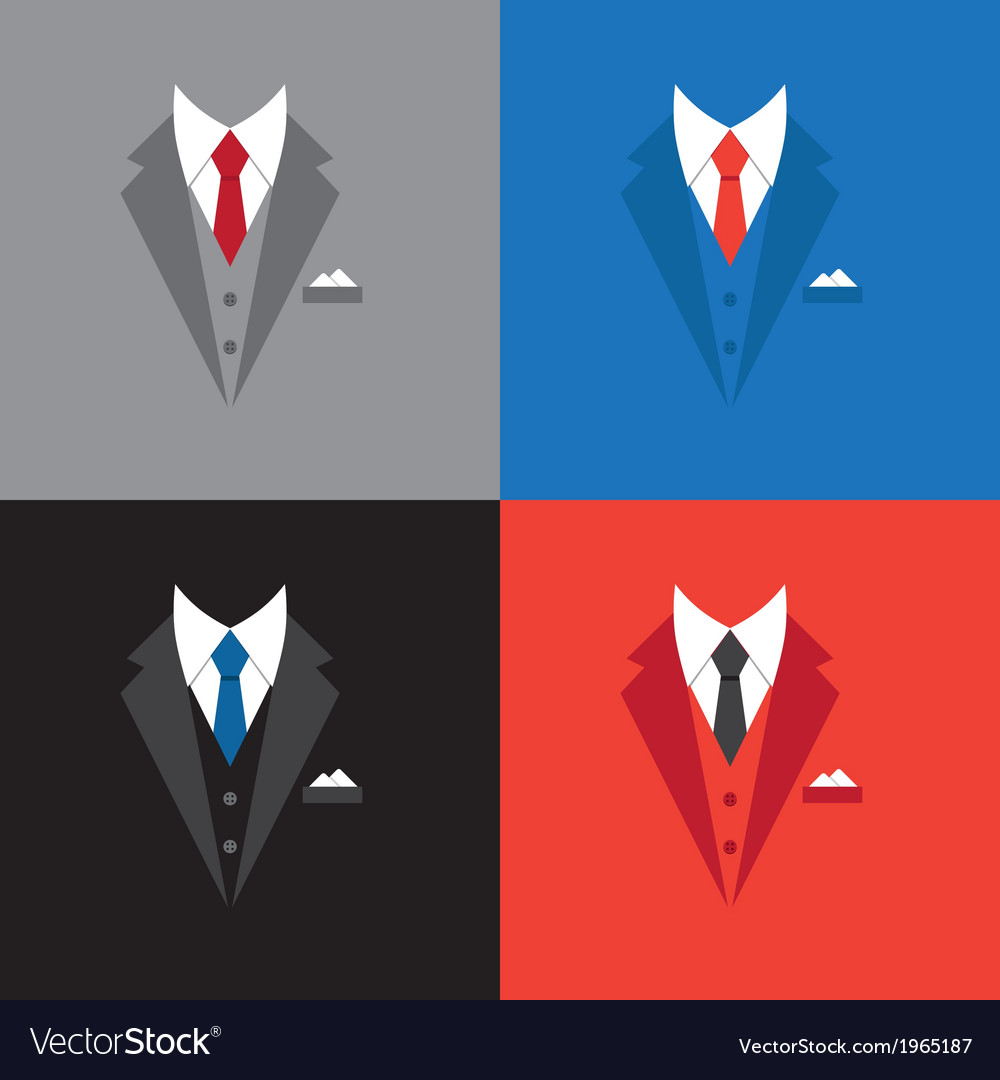 Success leader concept businessman suit vector