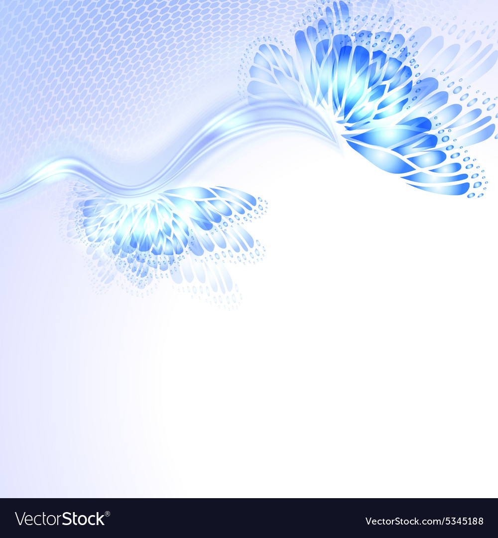 Abstract wave blue purplr background with vector