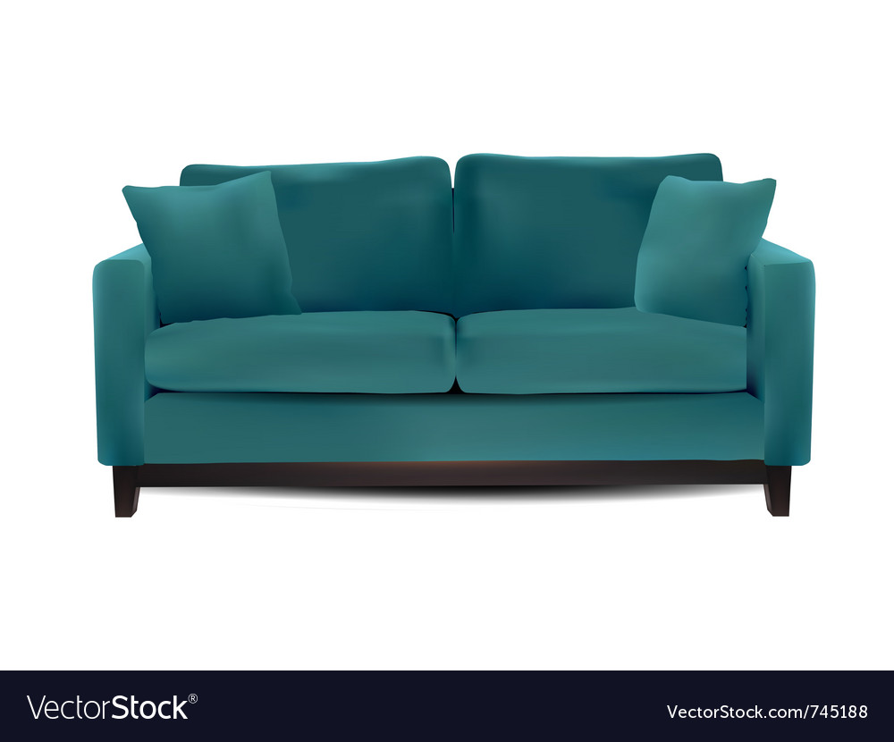 Sofa isolated vector