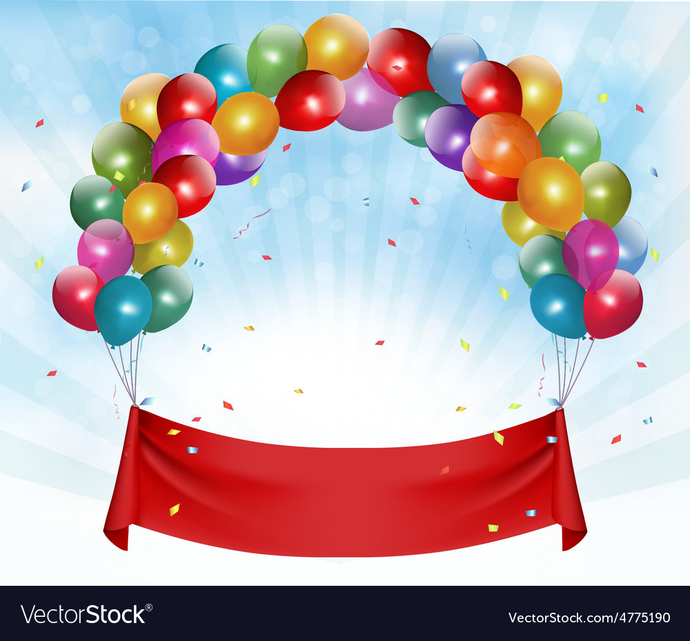 Happy birthday banner background vector
