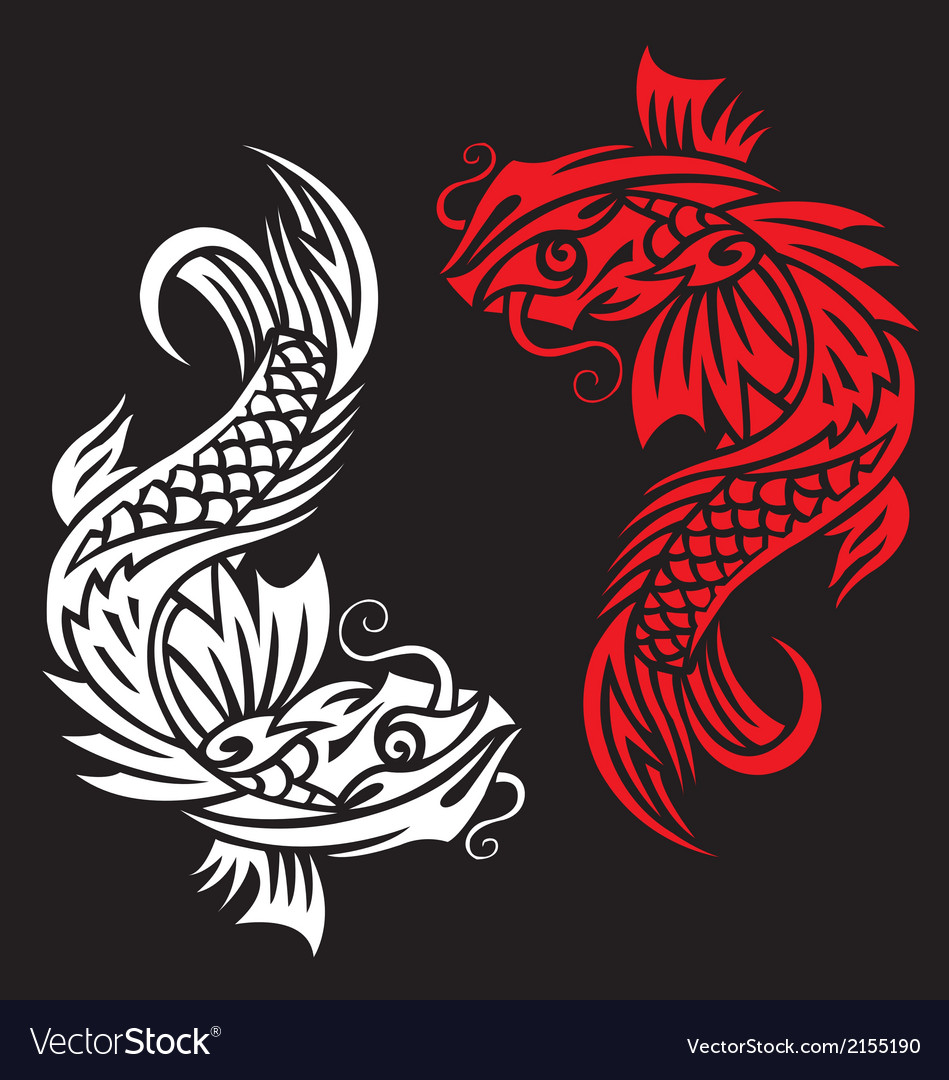 Image of an carp koi  vect vector