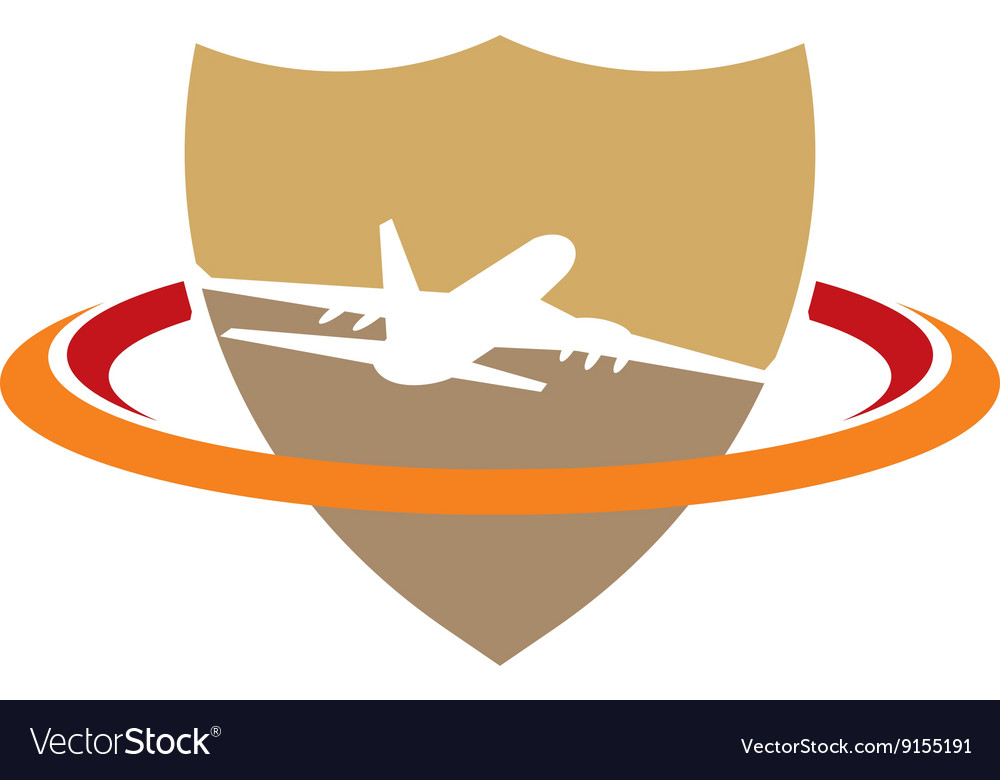 Logo airplane icon transportation travel holiday vector