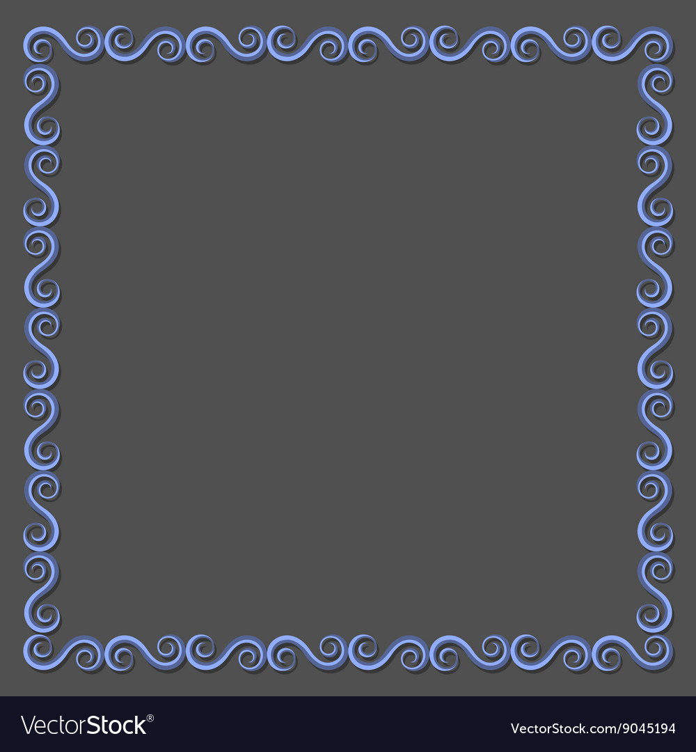Simple paper frame with swirls for design vector
