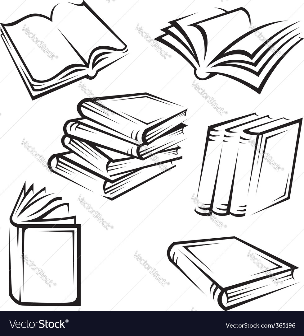 Books vector