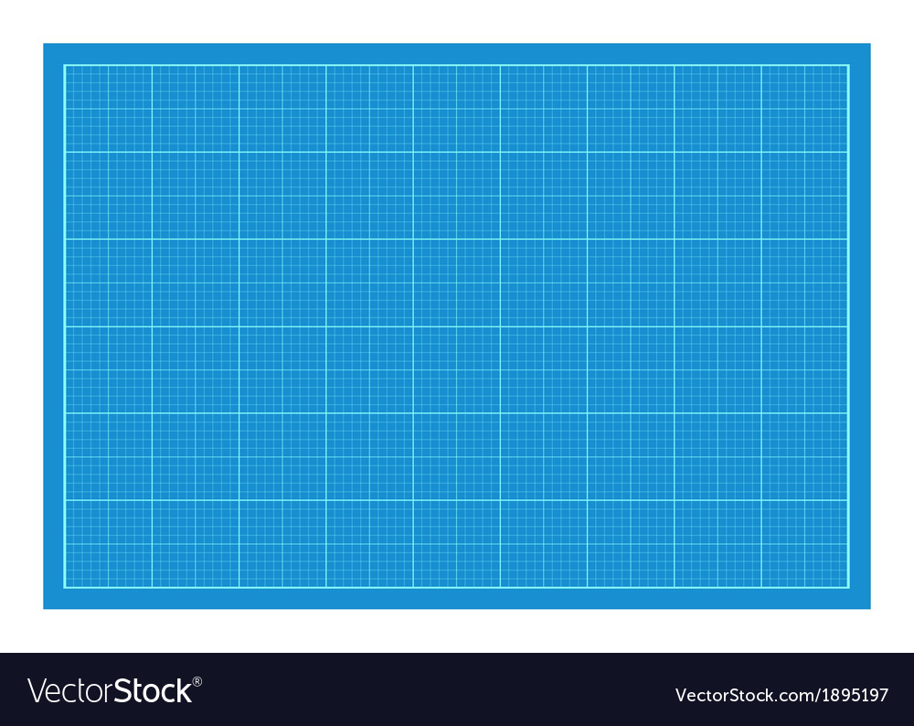 Sheet of blueprint paper vector