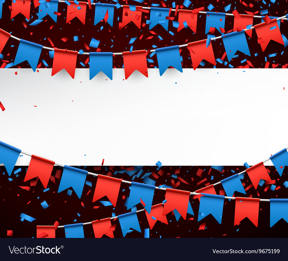 Banner with flags vector