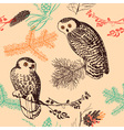 Vintage animal patterns vector image
