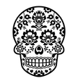 Mexican sugar skull - Polish folk art style vector image