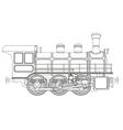 steam locomotive vector image