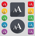 Enlarge font AA icon sign A set of 12 colored vector image