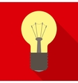 Light Bulb in Flat Style with Long Shadows vector image
